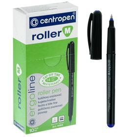 Ручка-роллер, 0.7 мм, Centropen 4665, одноразовая, сииняя, картонная упаковка