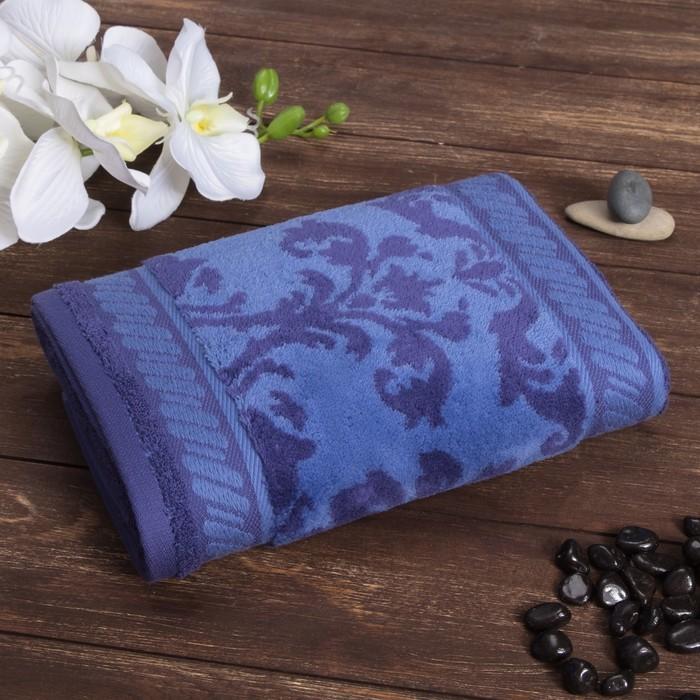 Полотенце махровое «Leggende di Algambra» цвет синий, 50х100 см, 480 гр/м