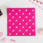 """Салфетки бумажные """"Сердечки"""" набор 20 шт, 33*33 см, цвет розовый"""