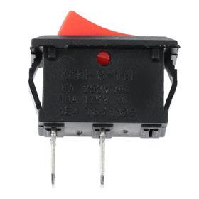 Выключатель клавишный без подсветки, без фиксации, красный Ош