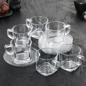 """Сервиз чайный """"Балтик"""", 12 предметов: 6 чашек 200 мл, 6 блюдец 13,7 см"""