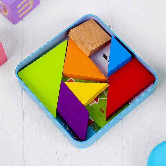 """Головоломка """"Танграм"""", в коробочке, + книжка со схемами"""