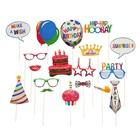 """Карнавальный набор для фотосессии """"С днём рождения"""" 18 предметов"""