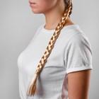 Коса на резинке 42 см, цвет русый