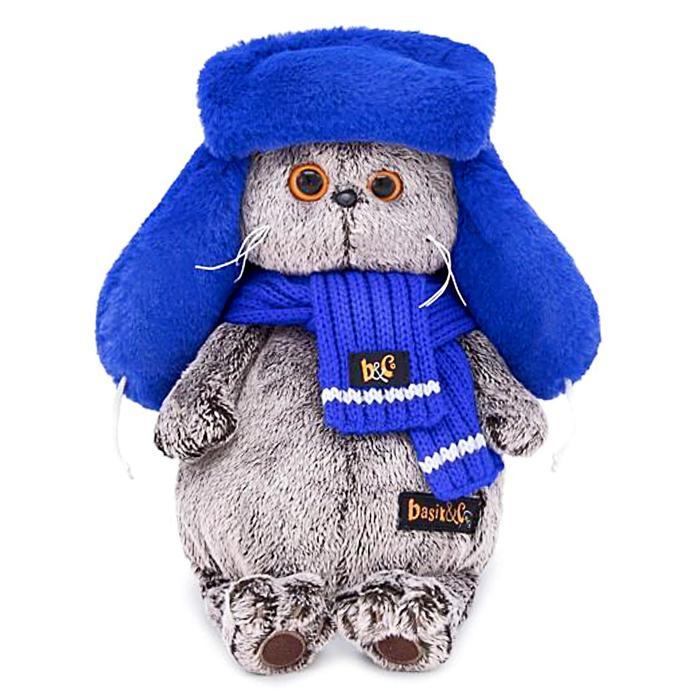 Мягкая игрушка «Басик», в меховой шапке, 25 см - фото 729888258