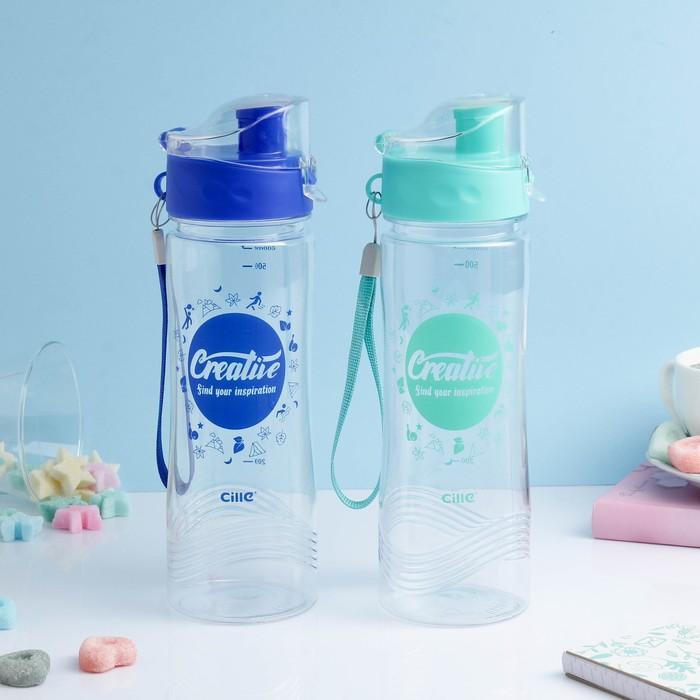 """Бутылка для воды """"Creative"""", 600 мл, микс, 6.5х24 см"""