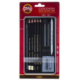 Художественный набор Koh-I-Noor 8893, GIOCONDA, 10 предметов в блистере, европодвес Ош
