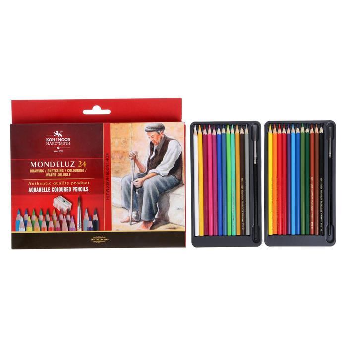 Карандаши художественные Koh-I-Noor Mondeluz 3711, 24 цвета, акварельные