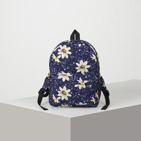 Рюкзак молодёжный, отдел на молнии, наружный карман, 2 боковые сетки, цвет синий