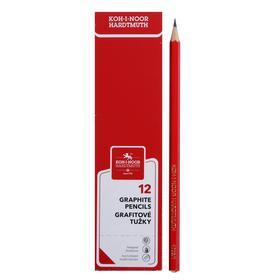 Pencil Koh-I-Noor 3B 1703 ALPHA, black, red case, sharpened.