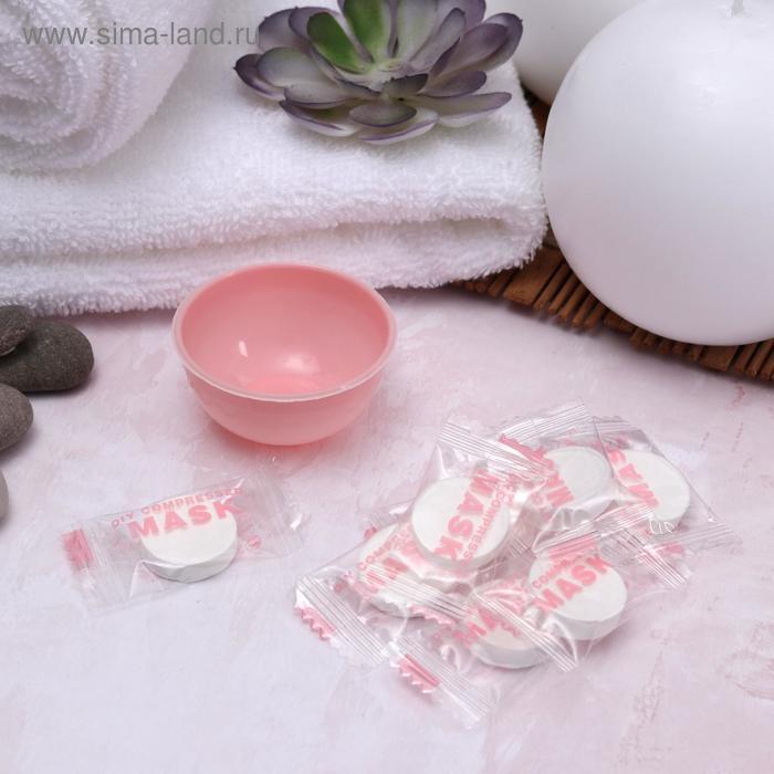 Набор косметологический, 9 предметов, цвет розовый/белый