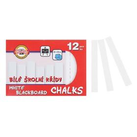 Мелки белые Koh-I-Noor, в наборе 12 штук, квадратные