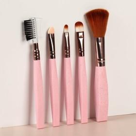 """Brush set makeup dlch """"eve"""" 5 pieces, 14 cm, MIX color"""