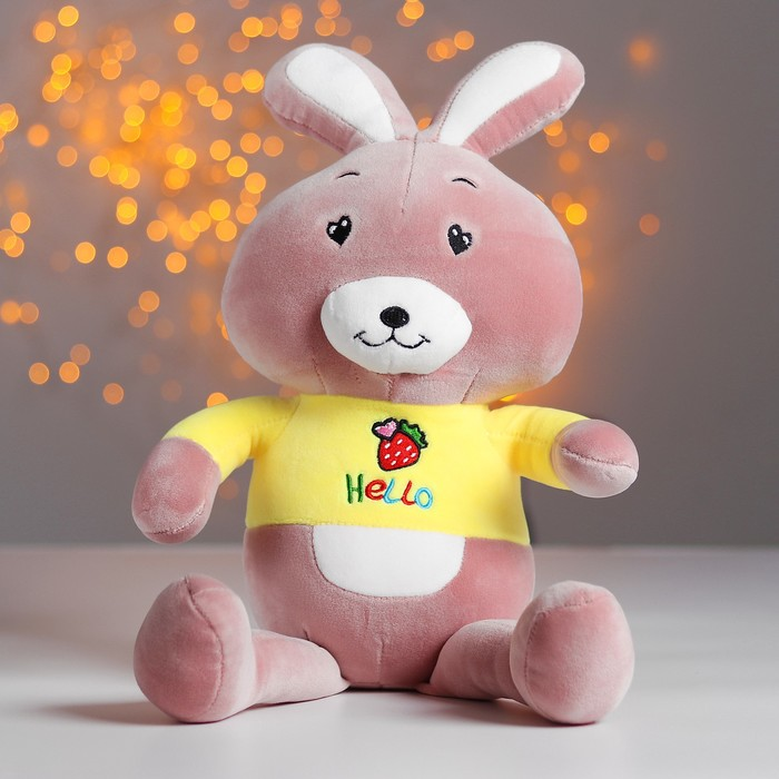 Магкая игрушка «Зайчик в футболке», цвета МИКС