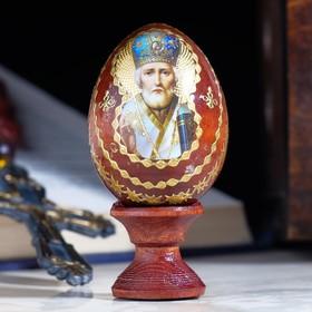 "Яйцо сувенирное ""Николай Чудотворец"", на подставке в Донецке"