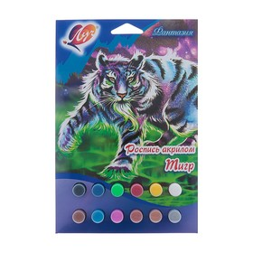 Роспись акрилом «Тигр»