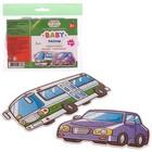 Пазл «Транспорт» 2 штуки: автобус, автомобиль