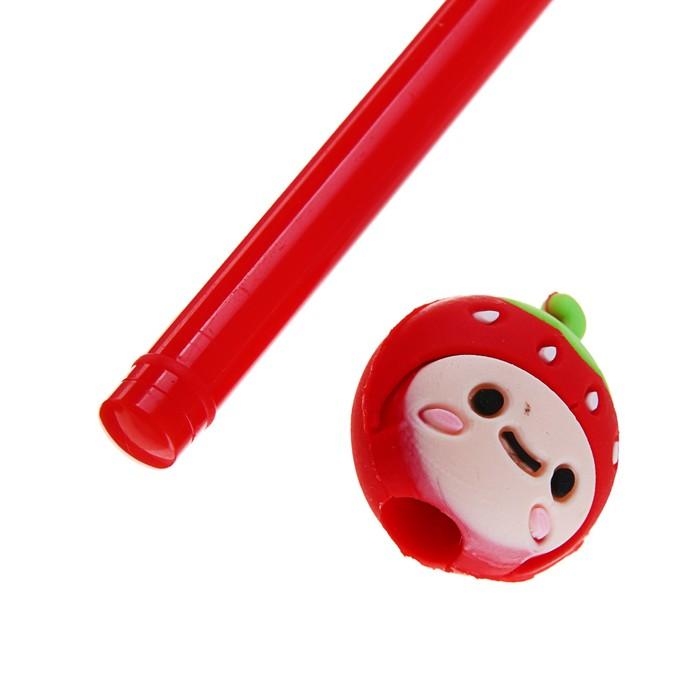 Ручка шариковая-прикол, «Смайлы-фрукты/ягоды», МИКС