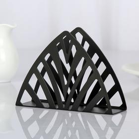 "Napkin holder ""Pyramid"", color: black"