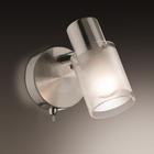 Светильник с выкл. PARFE 40Вт E14 серебро