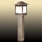Уличный светильник на столбе 80 см NOVARA, 1x60Вт, E27, IP44, цвет коричневый