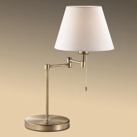 Настольная лампа GEMENA 60Вт E27 бронза