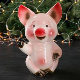 """Копилка """"Свинка"""", глянец, розовый цвет, 28 см, микс"""