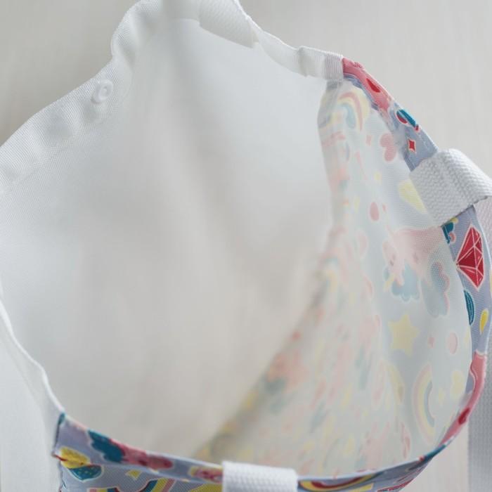 Сумка текстильная, отдел на кнопке, без подклада, цвет сиреневый