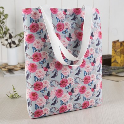 Bag, Department button, without padding, color mint/pink
