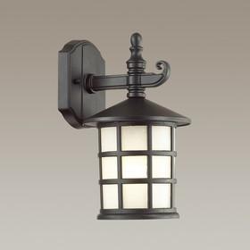 Уличный настенный светильник HOUSE, 1x60Вт, E27, IP44, цвет черный