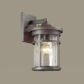 Уличный настенный светильник VIRTA, 1x60Вт, E27, IP44, цвет черный