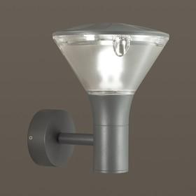 Уличный настенный светильник LENAR, 1x23Вт, E27, IP54, цвет серый