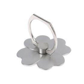 Держатель-подставка с кольцом для телефона LuazON, в форме цветка, светло-серый Ош