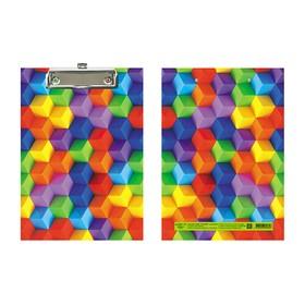 Планшет с зажимом А5, ламинированный картон Канцбург «Кубики»