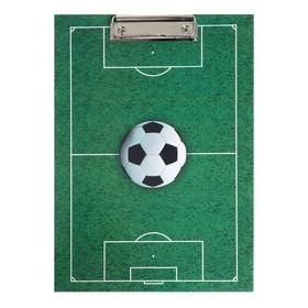 Планшет с зажимом А4, ламинированный картон Канцбург «Футбол»