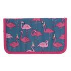 Пенал 1 секция 110х195 ткань, «Розовый фламинго»
