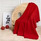 Плед «Экономь и Я» Красный 75×100 см, пл. 160 г/м², 100% п/э