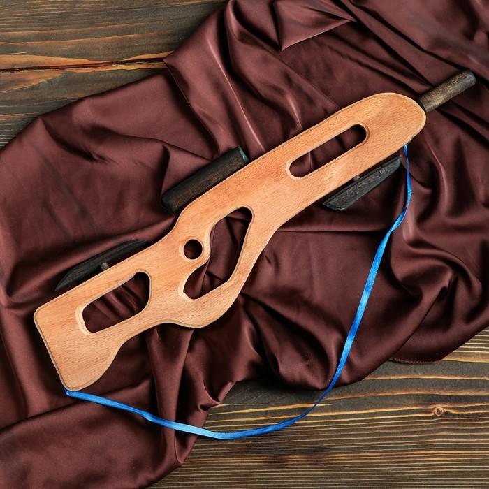 """Сувенирное деревянное оружие """"Автомат"""", 52 х 15 см - фото 105640939"""