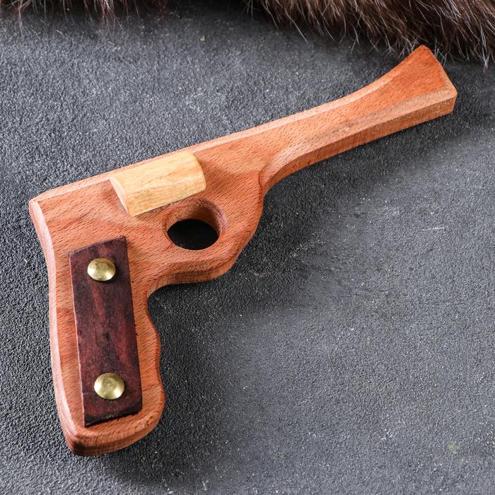 """Сувенир деревянный, пистолет """"Шериф"""", 20 х 11 см, массив бука"""
