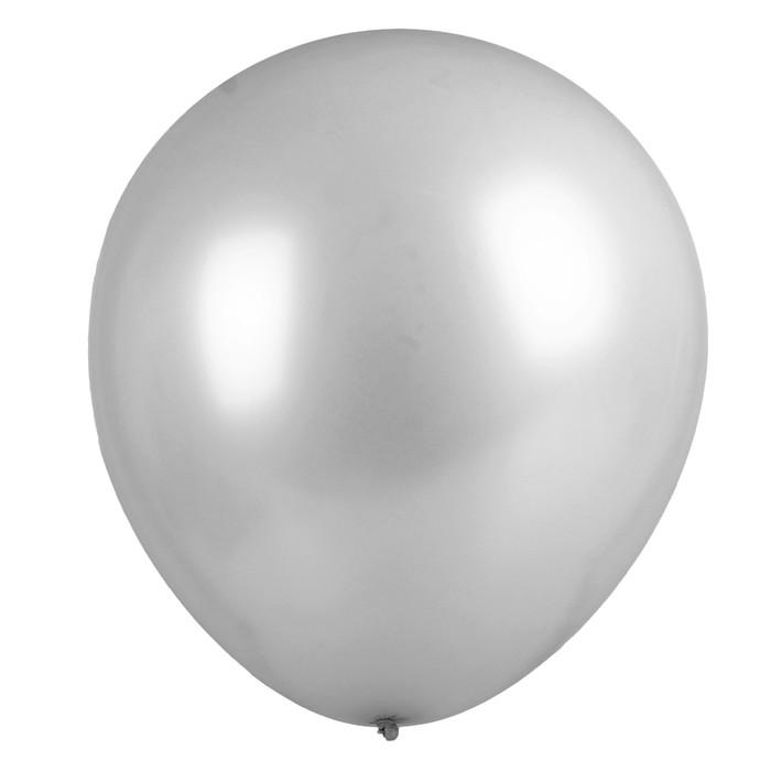 """Шар латексный 36"""" «Гигант», 1 шт., цвет серебряный - фото 308469738"""