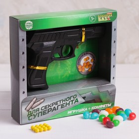 "Set the gun with pellets, candy 20 g ""For a secret superspy"""