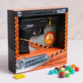Подарочный набор «Для крутого полицейского»: пистолет с пульками, конфеты 20 г
