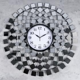 """Часы настенные, серия: Интерьер, """"Зеркальные фигуры"""", 70 х 70 см"""