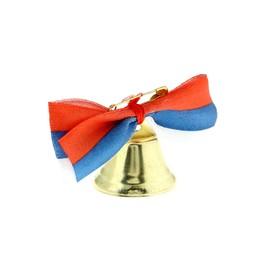 Bell Zvonochek, satin bow , tricolor
