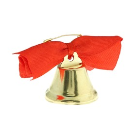 Bell Zvonochek, satin bow , red