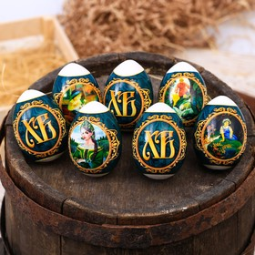 Пасхальная термоусадочная плёнка «Сказы Бажова», на 7 яиц