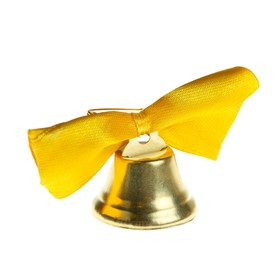 Bell Zvonochek, satin bow , gold