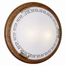 Светильник GRECA WOOD 2x60Вт E27 бронза, коричневый