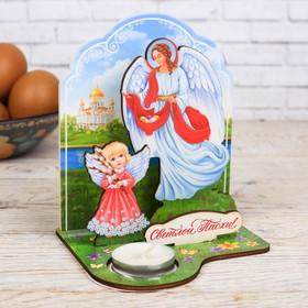 Пасхальный Настольный сувенир со свечой «Светлой Пасхи!», 11,3 х 13,5 см