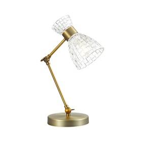 Настольная лампа JACKIE 1x40Вт E14 бронза